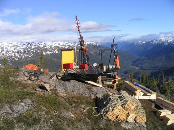 diamond and gold mining on top of a mountain