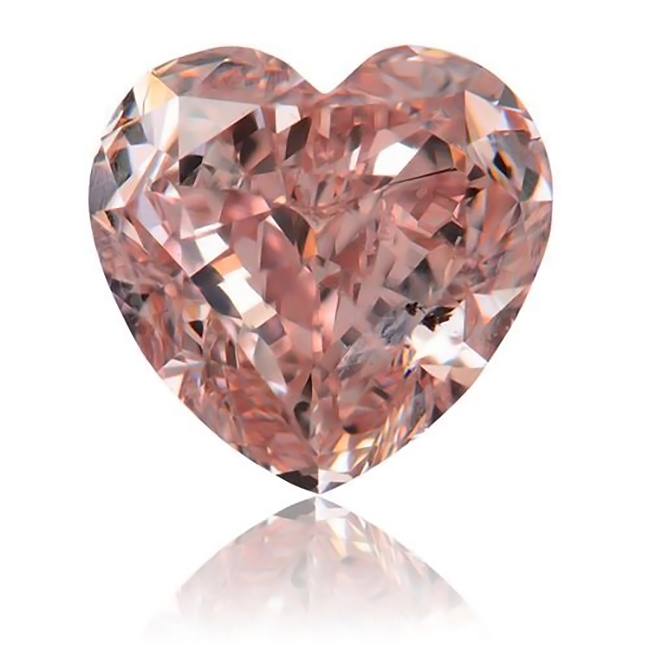 1.01 carat Heart Brilliant SI1 Loose GIA Certified fancy Intense Pink natural colored diamond for sale