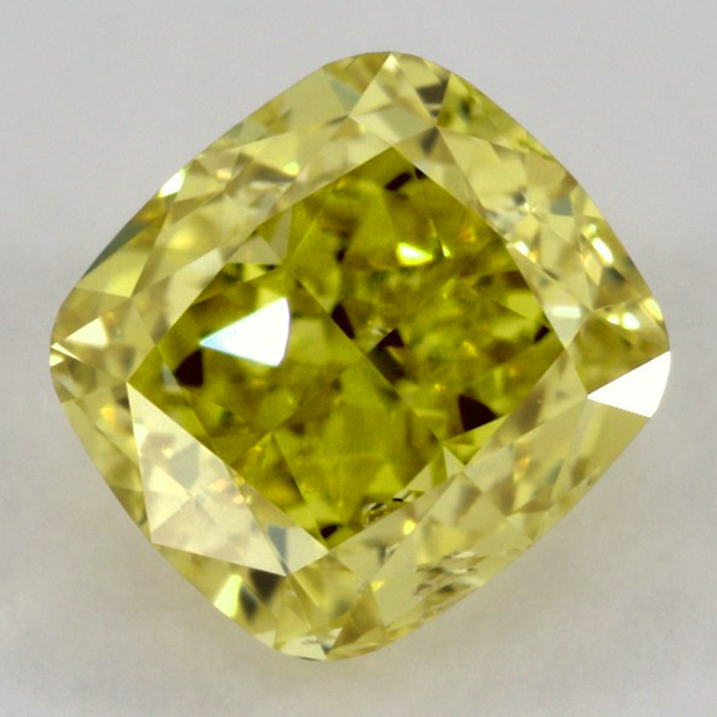 .51 carat SI2 GIA Certified fancy Vivid Yellow natural colored diamond for sale