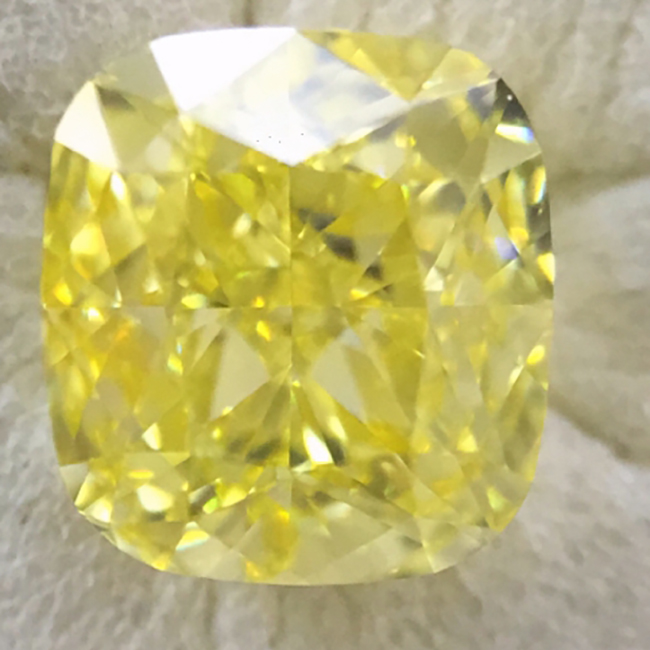 1.03 Fancy Intense Yellow VS2 natural colored diamond gia certified for sale-diamond-for-sale