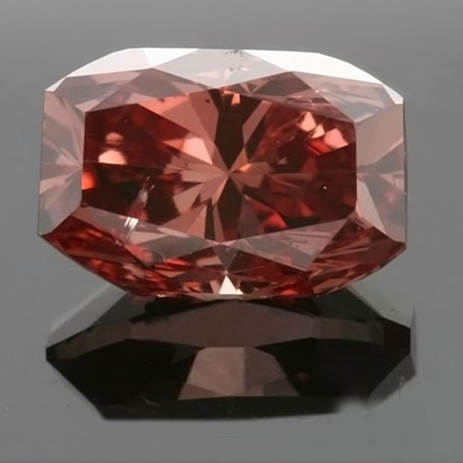 .43 carat octagonal modified GIA certified fancy deep brownish orangy pink natural colored diamond for sale