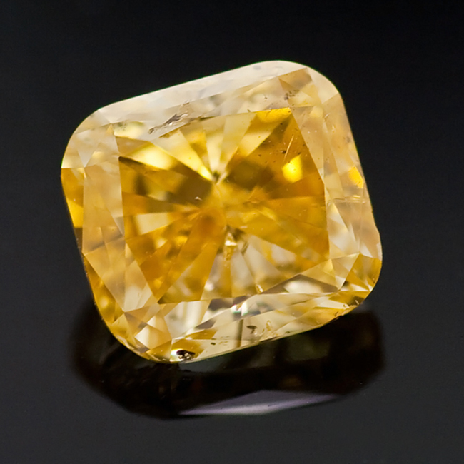 loose diamonds for sale-1.02 Carat Fancy Intense Yellow Orange Natural GIA certified diamond